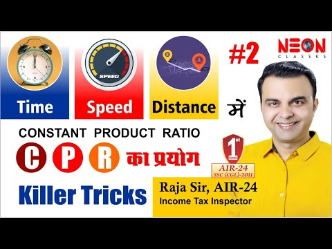Constant Product Ratio (Time Speed Distance) A great Concept for SSC,BANK, CAT, Railway Part #2