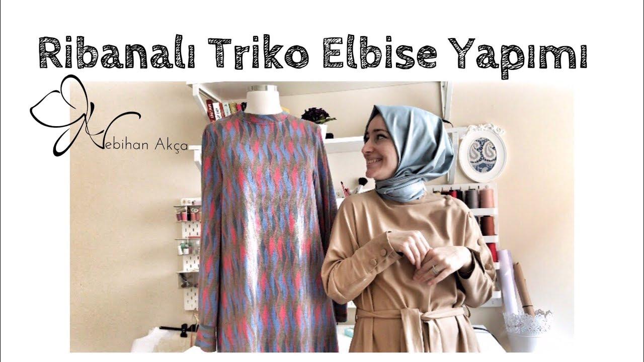 Ribanalı Triko Elbise Yapımı
