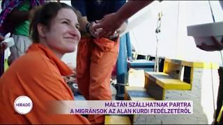 Máltán szállhatnak partra a migránsok az Alan Kurdi fedélzetéről