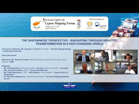 2021 5th Annual Capital Link Cyprus Shipping Forum – The Shipowners' Perspective