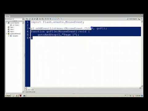 Flash Professional CS6 - Scene Navigation using ActionScript 3