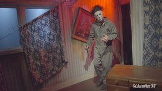 Scary Halloween: Michael Myers Maze (Highlights) - Hollywood Halloween Horror Nights 2015
