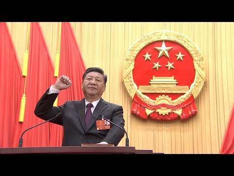 Xi Jinping takes a public oath of allegiance to the Constitution