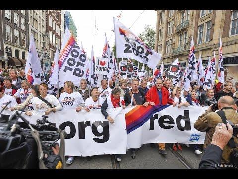 Red de zorg demonstratie amsterdam youtube for Demonstratie amsterdam