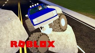 Monster Truck Rock Crawling On The Freeway In Roblox Vehicle Simulator