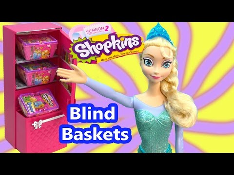 Queen Elsa Shopkins Season 2 Packs Blind Bag Basket Review Opening Disney Frozen Anna Dolls