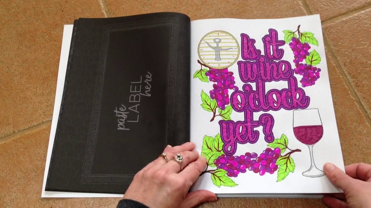 wine life a snarky adult colouring book