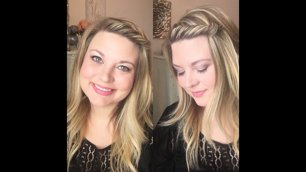 easy front twist hair tutorial / whitney evans