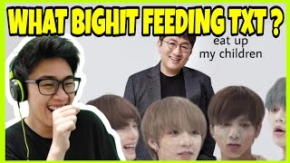 Download lagu [TXT] Do you ever look at someone and wonder, what is Bighit feeding this kids reaction
