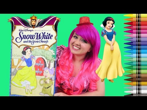 Coloring Snow White Disney Princess GIANT Coloring Book Colored Pencils | KiMMi THE CLOWN