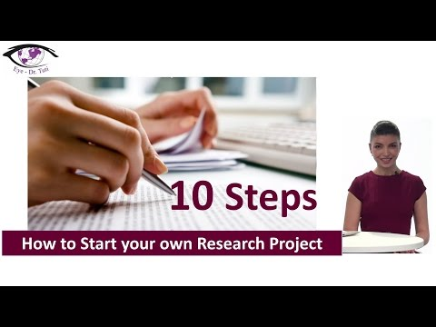 10 Steps of How To Start Your Research Project in Ophthalmology