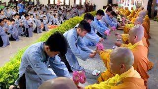 THẬT ẤN TƯỢNG lễ Xuất Gia cho 200 em Thiếu Nhi tại chùa Hoằng Pháp (rất dễ thương)
