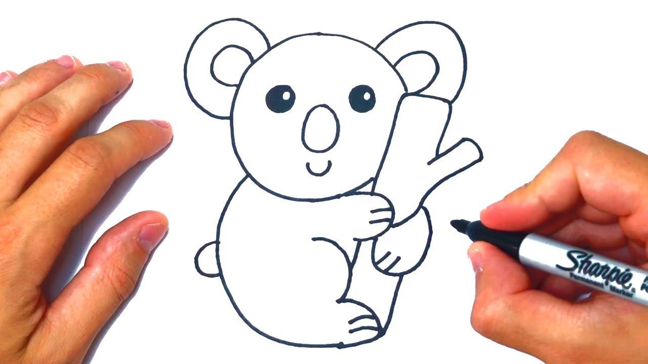 Cómo dibujar un Koala Paso a Paso