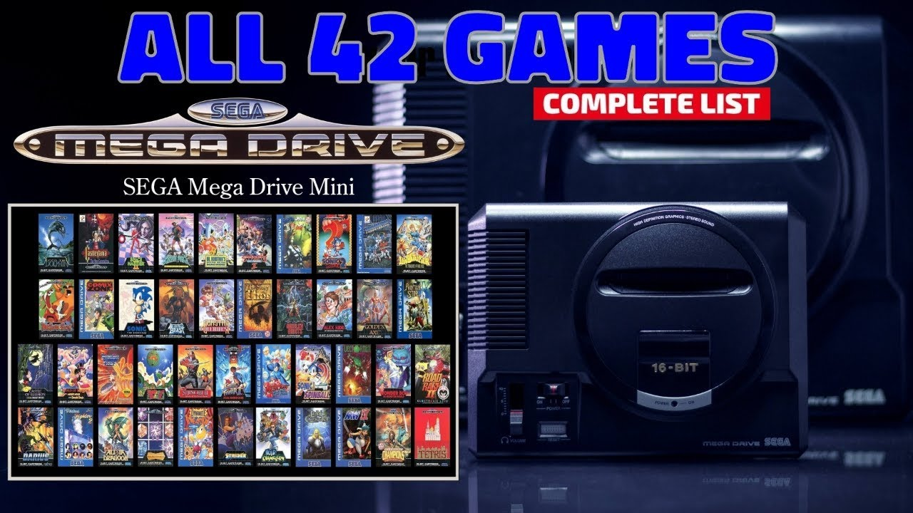 Sega Mega Drive Mini / Sega Genesis Mini Complete Games List [All the  Games] - (EUR/US Versions)