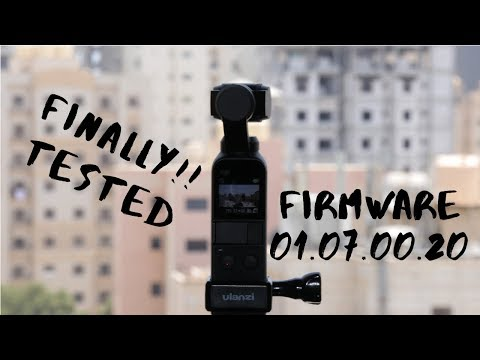 Footages from DJI OSMO POCKET Firmware 01.07.00.20 year 2019
