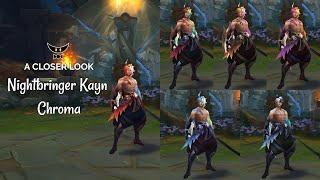 Nightbringer Kayn Chromas (ALL FORMS)
