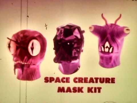 Pressman Space Creatures Mask Kits Commercial 1978