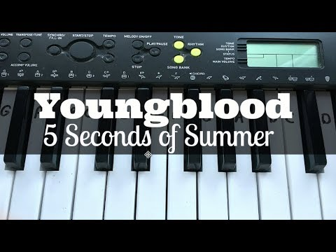 Youngblood 5 Seconds Of Summer Easy Keyboard Tutorial With Notes