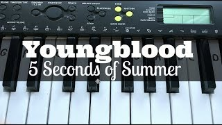 Youngblood - 5 Seconds of Summer | Easy Keyboard Tutorial With Notes (Right Hand)
