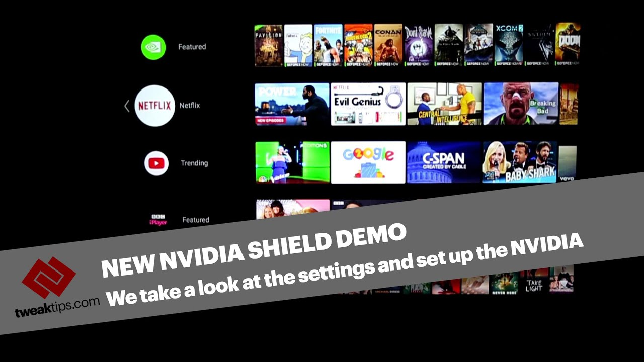 NVIDIA Shield Android TV Setup Options & Demo 2018