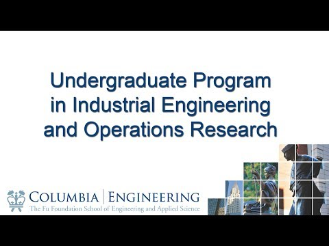 Undergraduate Program in Industrial Engineering and Operations Research