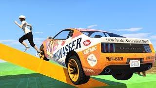"LUDZIE VS SUPER SAMOCHODY w GTA ONLINE Z EKIPĄ ""CARS VS RUNNERS"" #162 [PL/PC]"