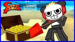 Roblox Tesoro Caccia Sim DIGGING Per GOLD Giochiamo con Combo Panda