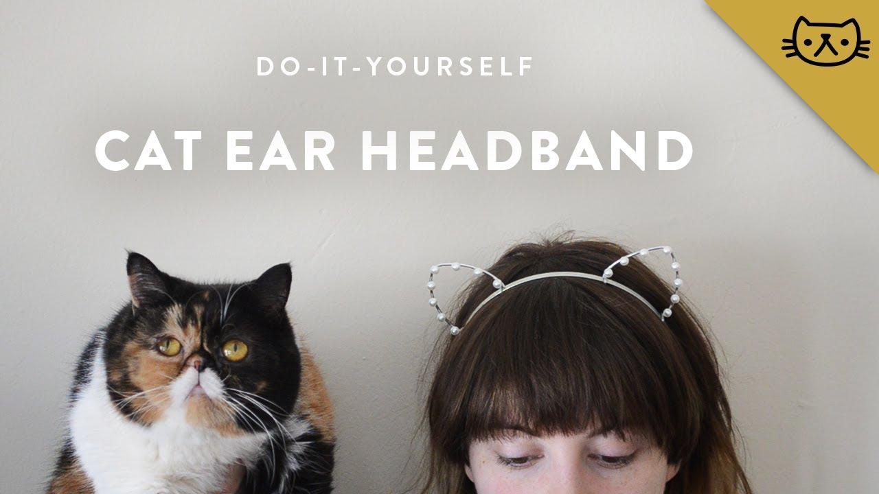 How to Make a Cat Ear Headband - YouTube