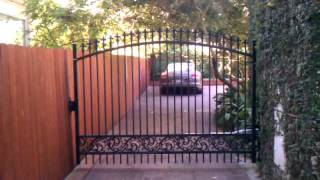 Riveroaks Pretty Swing Arched Gate,fresnofence,inc