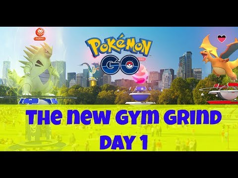 Pokemon GO | New Gym System Game Play | Day 1 Of Gym Grind 2.0