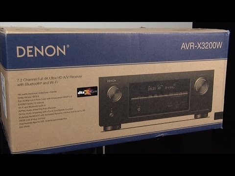 Unboxing and first look at the Denon AVR-X3200 AV Receiver