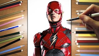 Speed Drawing: Ezra Miller as The Flash | Jasmina Susak