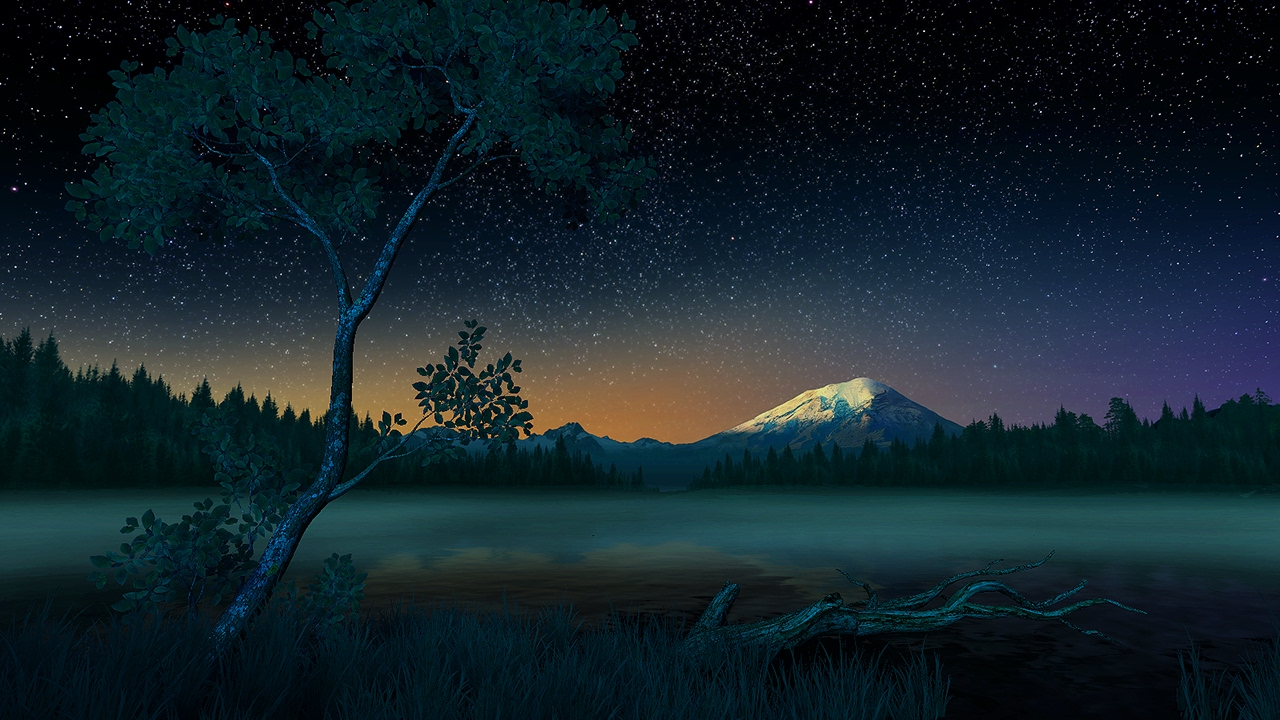Starry Night 3d Screensaver Live Wallpaper Hd Youtube