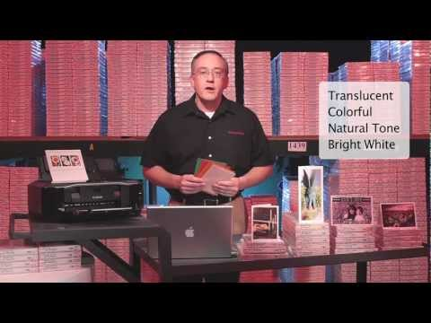 Inkjet Printable Greeting Card Introduction Video