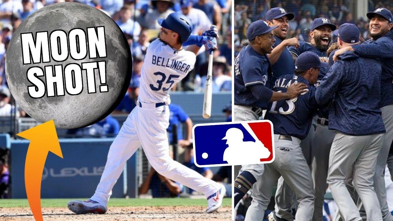 Cody Bellinger Hits MOONSHOT, Dodgers & Brewers Clinch! NL Wild Card! MLB 2018 Postseason Recap