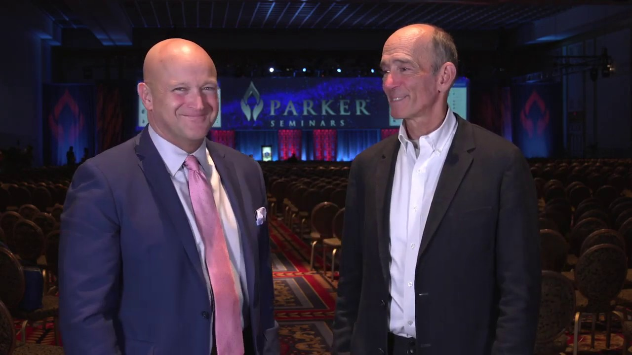 Joseph Mercola, DO talks with William E  Morgan, DC at Parker Seminars Las  Vegas 2019