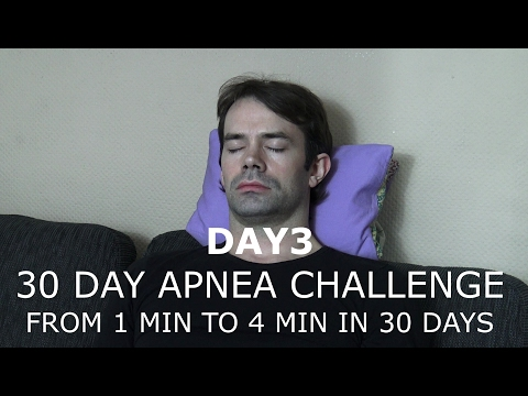 30 DAY BREATH HOLD CHALLENGE DAY 3 - APNEA TRAINING 1 MIN TO