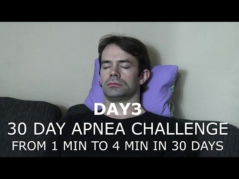 30 DAY BREATH HOLD CHALLENGE DAY 3 - APNEA TRAINING 1 MIN TO 4 MIN IN 30 DAYS
