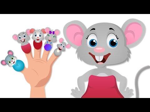 Dedo del ratón canción familia | Canciones infantiles | Ratón Familia Dedo Canciones de Niños