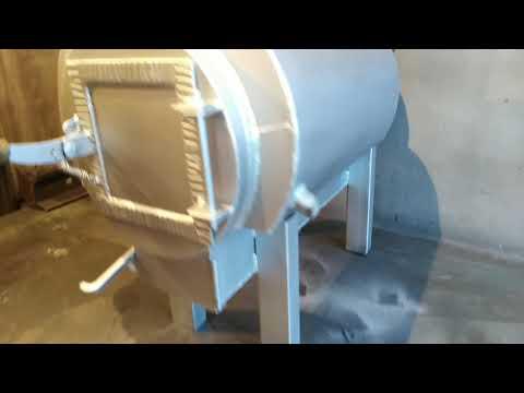Печь из 2-х пропановых баллонов с водяным контуром