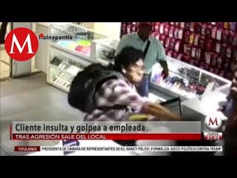 Hombre golpea a empleadas en tienda del Tren Suburbano de Tlalnepantla