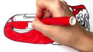 Тачки 2 Раскраска Мультфильм про машинки  Молния Маквин Cars 2 Coloring  Lightning Makvin