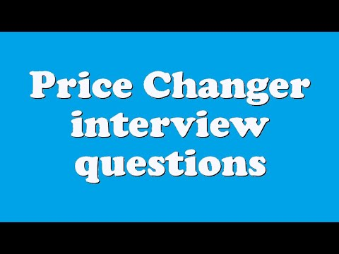 Price Changer interview questions