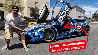 DRIVING A MANUAL LAMBORGHINI 24 HOURS STRAIGHT IS BRUTAL!