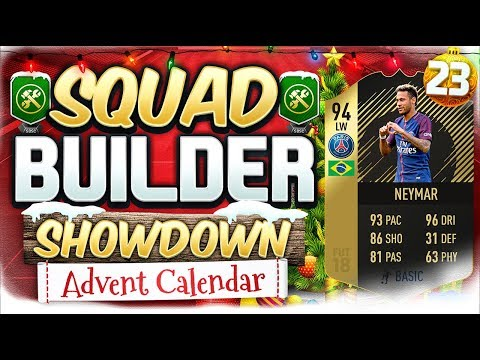 FIFA 18 SQUAD BUILDER SHOWDOWN INFORM NEYMAR Advent Calendar Day 23 Vs Reev