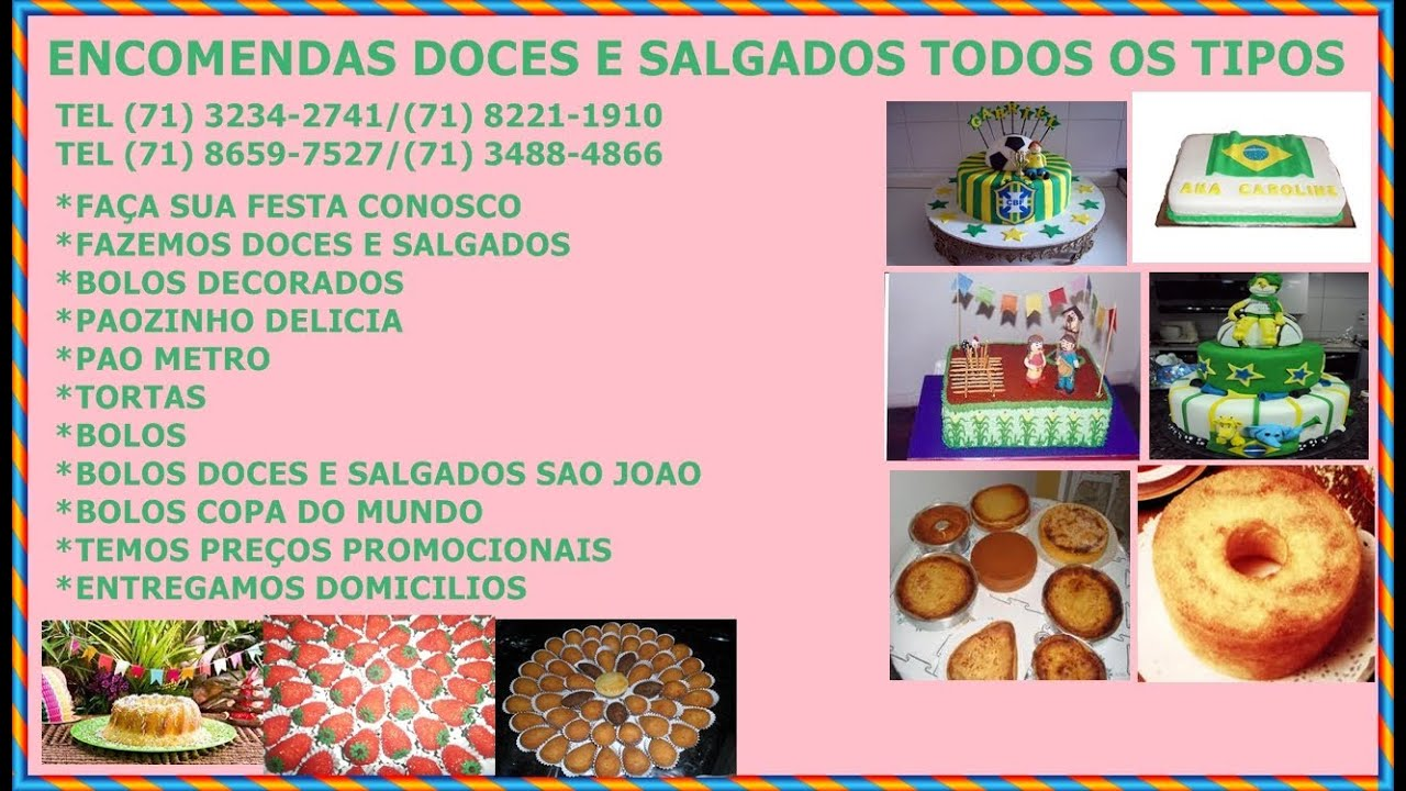 KIT FESTAS DOCES E SALGADOS  YouTube