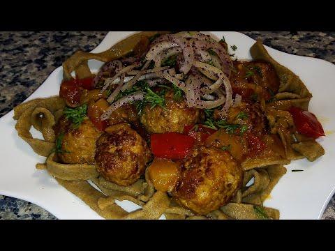 Лапша с фрикадельками по-азербайджански 🌟 Küftə ilə əriştə 🌟 Meatballs with rye noodles - Duration: 4:14.