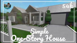Roblox   SIMPLE ONE-STORY HOUSE   BLOXBURG SPEEDBUILD