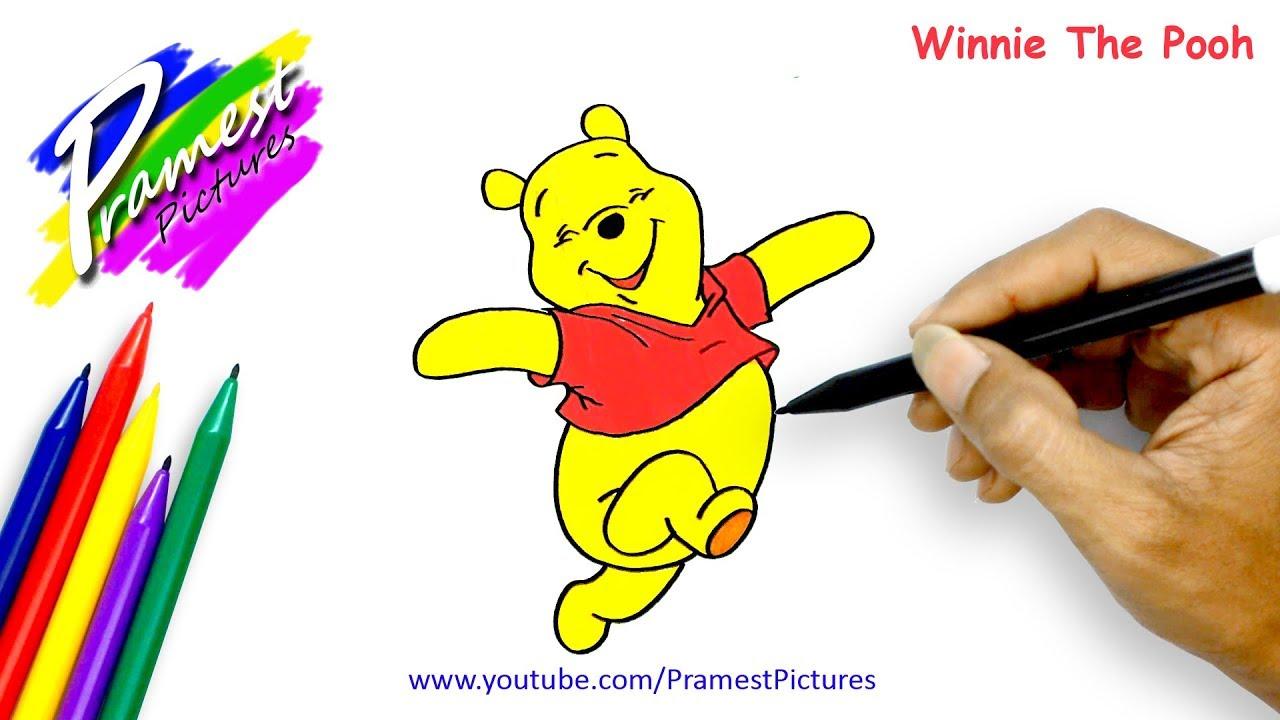 Winnie The Pooh Cara Menggambar Dan Mewarnai Gambar Kartun Anak Anak Youtube
