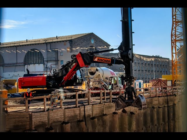 [TEAMWORK für Stuttgart 21 ] HITACHI Kiesel Multi Carrier KMC 350 & CAT963D    31.10.2016  #S21